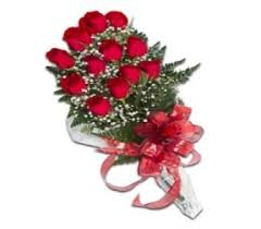 Long Stem Roses Presentation Bouquet One Dozen Long Stem Red Roses In Modesto Ca
