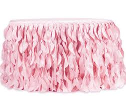 Table Skirts Pink Table Skirt Etsy