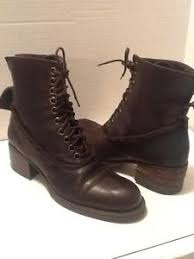 womens leather ankle boots size 9 bebe s brown leather ankle boots size 9 ebay