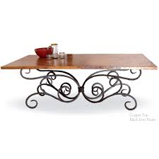Iron Sofa Table by Alexander Wrought Iron Dining Table With 84 X 42 Inch Copper Top