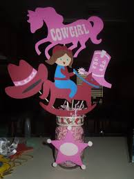 cowgirl centerpiece creationsbytracey pinterest horse party