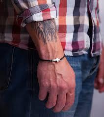 men s religious jewelry cross leather bracelet christian silver sideways cross mens