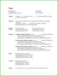 Microsoft Words Resume Templates Entry Level Curriculum Vitae Writing Sample Resume Objective