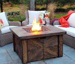 Costco Sale Global Outdoors Faux Wood Fire Table 299 99 Frugal