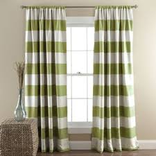 Green Striped Curtains Striped Curtains Free Home Decor Techhungry Us