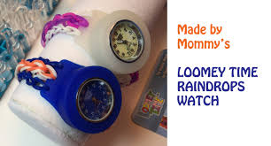 Watch Home Design Shows by Loomey Time Rainbow Loom Raindrops Watch Bracelet Youtube