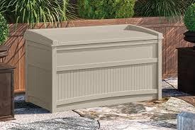Suncast 50 Gallon Patio Bench by Amazon Com Suncast Db5500 Deck Box Garden U0026 Outdoor