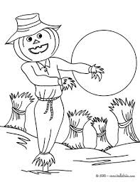 cursed scarecrow coloring pages hellokids