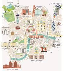 st hane bureau illustrated map of landmarks including buckingham