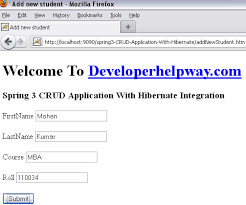 run spring 3 with hibernate crud application steps for spring 3