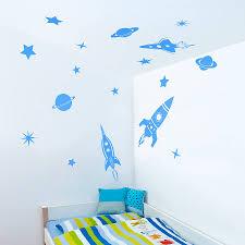 space rockets wall sticker set by oakdene designs space rockets wall sticker set