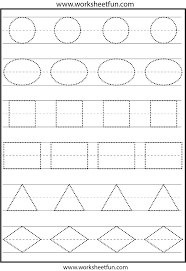 shapes tracing worksheets free coloring pages for kindergarten