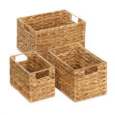wicker straw basket storage rectangle woven storage basket set