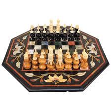 unique chess sets for sale italian pietra dura chess board with semi precious stone for sale at