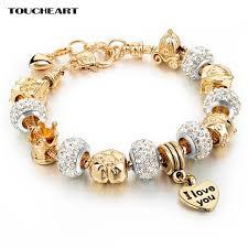 color charm bracelet images Toucheart gold color charm bracelets for women classic champagne jpg