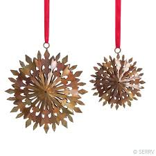 green gifts duo snowflakes ornaments