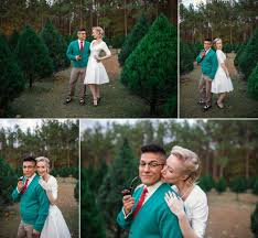 vintage christmas photography session at the tree farm in