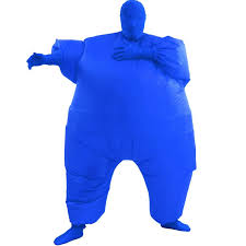 blue inflatable fat suit costume clip art library