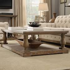 Weathered Wood Coffee Table Inspire Q Edmaire Rustic Baluster Weathered Pine Coffee Table