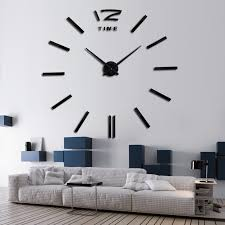 Burberry Home Decor Wall Clock Sticker
