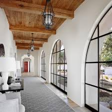 spanish revival style home mediterranean design steel windows