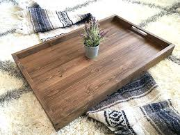 leather tray for coffee table fascinating rustic ottoman coffee table rustic wooden ottoman tray