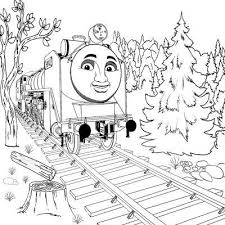 thomas tank engine winter coloring pages kids winter
