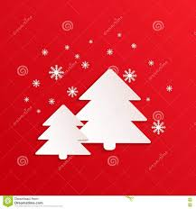 fir vector card with paper shapes winter background spruce