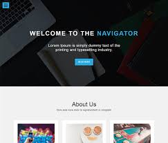 one page bootstrap free template download navigator