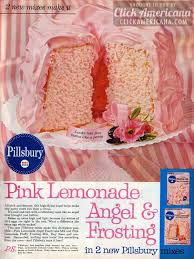 pink lemonade angel cake u0026 frosting 1961 click americana