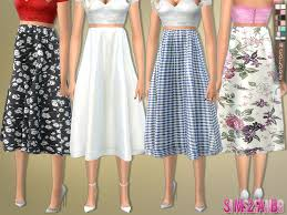 knee length skirt sims2fanbg s 172 knee length skirt