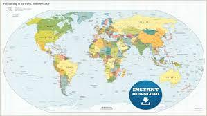 digital modern world map hight printable download large