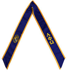 cheap graduation stoles alpha phi omega fraternity sorority deluxe embroidered
