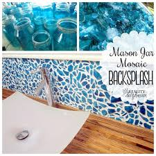 Design Your Own Backsplash by Mason Jar Mosaic Backsplash Reality Daydream
