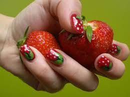cute and colorful summer nails design ideas with fruits
