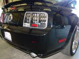 mustang led tail lights mustang led tail lights sequential black 05 09 lmr