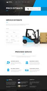 Estimation Responsive Business Html Template Free Download shipping logistics u0026 transport html template by themepassion