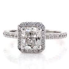 radiant cut halo engagement rings near 1 carat classic halo radiant cut shape engagement