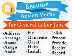100 Resume Words 100 Action Verbs Resumes Housekeeping U0026 Cleaning Resume
