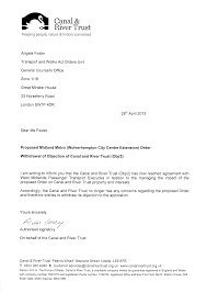 letter of application charity inquiry library transport for west midlands obj 2 wd1 withdrawal letter canal river trust