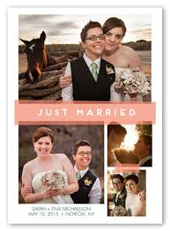 wedding announcement cards just married 5x7 wedding announcement cards shutterfly