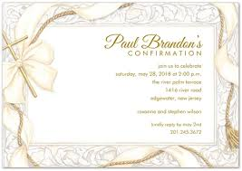 confirmation invitation ribbon and gold cross confirmation invitations storkie