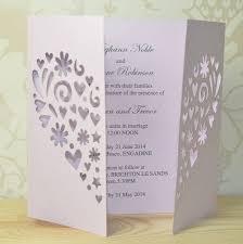 gatefold wedding invitations heart laser cut gatefold wedding invitation laser cutting heart