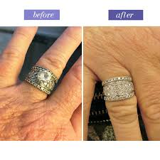 wedding rings redesigned before after restorations at the jewelry box of lake forest