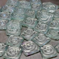 12 recycled window glass tiles spiral handmade mosaic glass