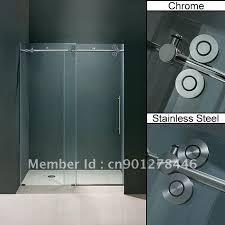 Discount Shower Doors Free Shipping Frameless Sliding Glass Shower Door Hardware Free Shipping Let
