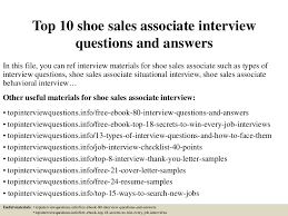 top10shoesalesassociateinterviewquestionsandanswers 150319103037 conversion gate01 thumbnail 4 jpg cb u003d1426761545