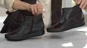 womens boots qvc clarks leather ankle boots idella casey page 1 qvc com