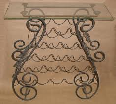 wrought iron u0026 glass top wine rack u2013 before picture flickr