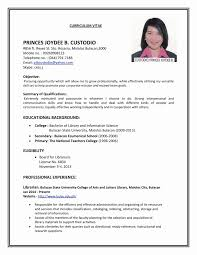 exle of resume format for sle of resume format for application inspirational exle